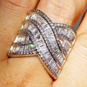 Jewelry - NEW SIZES .925 Sterling Silver White Sapphire Ring